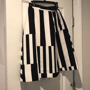 NWT Kate Spade a-line multi-stripe skirt